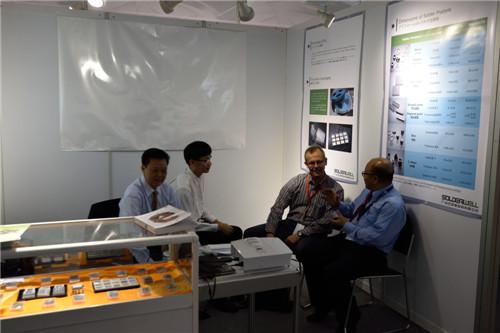汉源新材料参展2014年德国慕尼黑国际电子元器件博览会